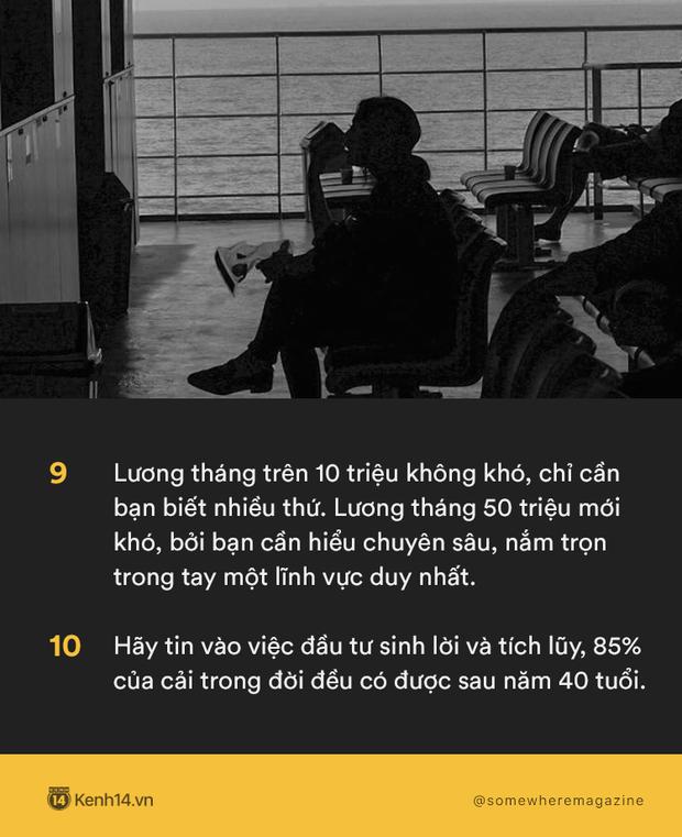 20 bài học mà năm 20 tuổi bạn buộc phải biết: Dù thực dụng nhưng kiếm tiền là cách để bảo vệ người bạn yêu thương! - Ảnh 9.