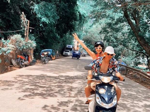Bạn trai Khánh Linh chính là hình mẫu khiến mọi cô gái hạnh phúc: đi du lịch liền trở thành thợ ảnh cho người yêu, tay xách nách mang đồ không kêu ca gì - Ảnh 7.