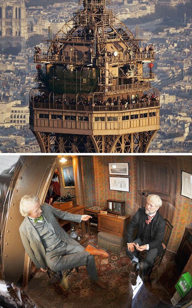 Tưởng chỉ để sống ảo, giữa tháp Eiffel còn có cả nhà hàng và bí ẩn nhất là căn hộ khổng lồ nằm trên đỉnh - Ảnh 13.