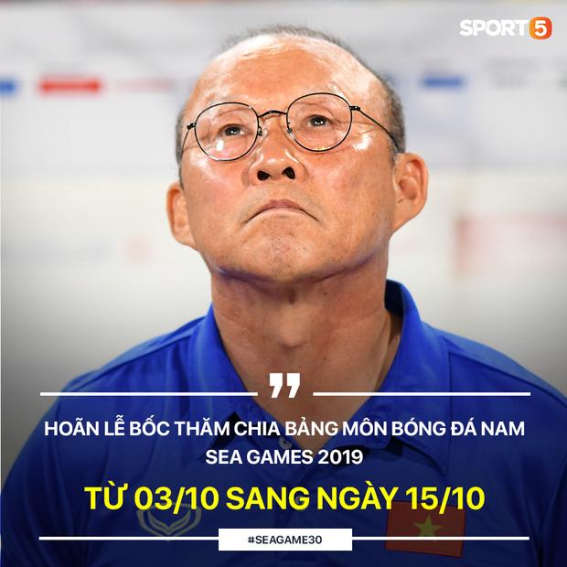 Bất ngờ hoãn lễ bốc thăm chia bảng môn bóng đá SEA Games 2019, HLV Park Hang-seo tiếp tục phải chờ đợi - Ảnh 1.