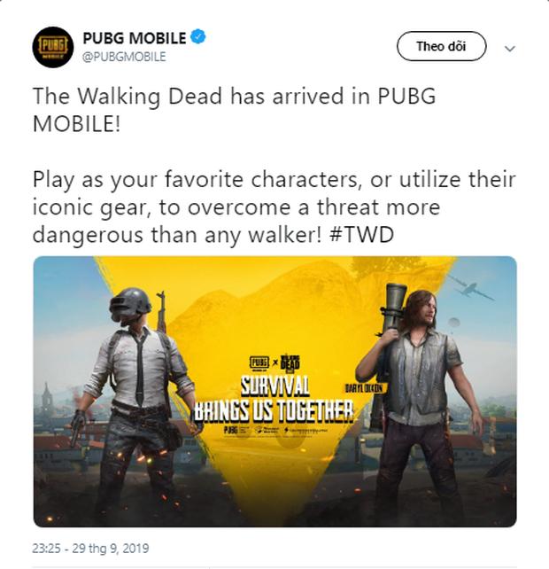 PUBG Mobile mang vũ trụ xác sống The Walking Dead vào cuộc chiến sinh tồn - Ảnh 1.