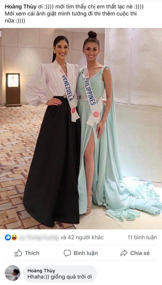 Khoảnh khắc gây lú: Hoàng Thùy đọ sắc cùng Lâm Khánh Chi tại đấu trường Hoa hậu Quốc tế 2019? - Ảnh 1.