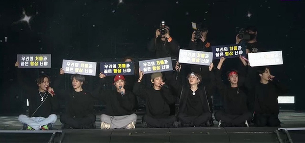 Sự cố bất ngờ trong concert của BTS: Jungkook bị rách quần và phản ứng siêu cấp đáng yêu của anh chàng khiến fan bật cười - Ảnh 4.