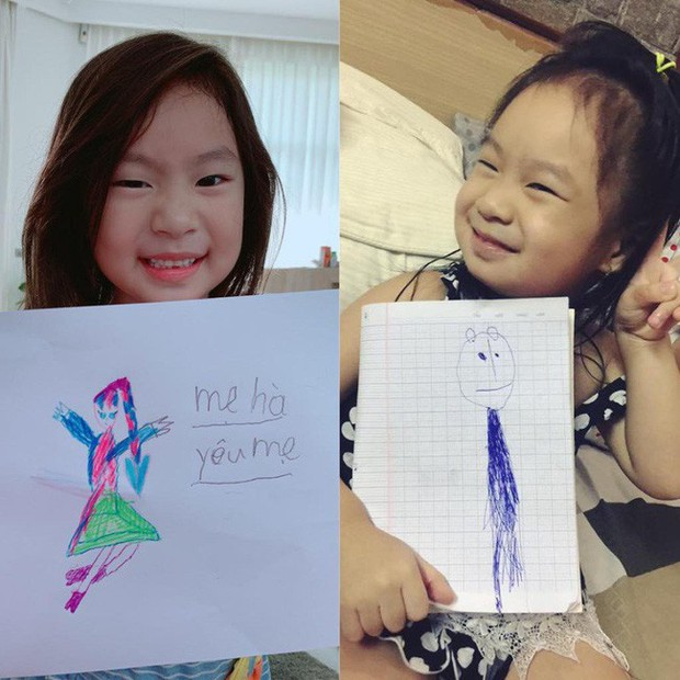 Bà xã Lý Hải dậy thì thành công trong tranh vẽ của con gái, nhưng khả năng viết chữ của Cherry cùng lời nhắn ngọt ngào mới bất ngờ - Ảnh 2.