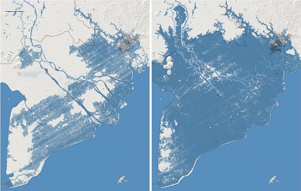 """Thời báo New York Times đưa tin: """"Toàn bộ miền nam Việt Nam có thể chìm trong nước biển vào năm 2050"""" - Ảnh 1."""