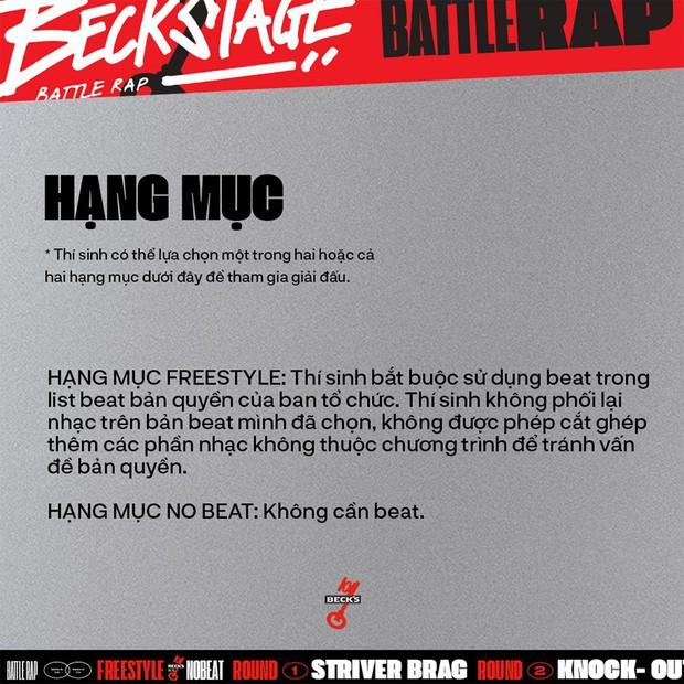 BeckStage Battle Rap: cổng gửi bài dự thi và bình chọn đã mở, cơ hội để bạn show hết tài năng đến rồi đây! - Ảnh 2.