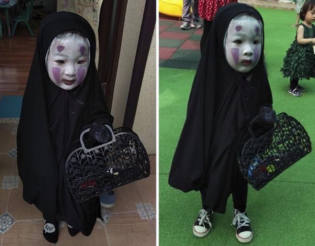 Cô bé Vô Diện năm nào giờ đã lớn bổng, tiếp tục tái xuất với màn hóa trang Halloween cực độc - Ảnh 1.