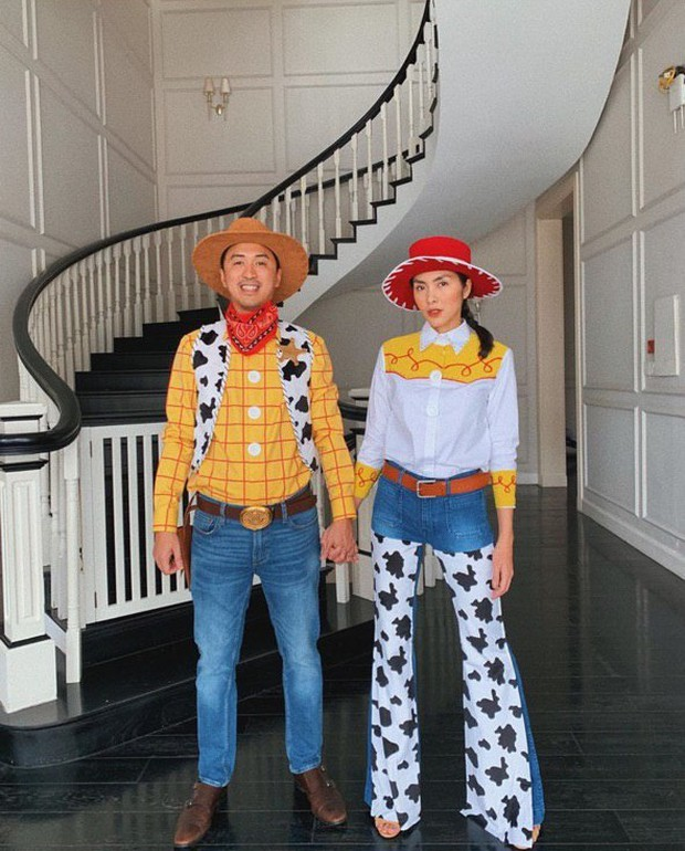 Vợ chồng Hà Tăng lại gây sốt với màn hóa trang Halloween cực dễ thương: Cặp đôi máu lửa nhất mỗi dịp lễ hội là đây! - Ảnh 1.