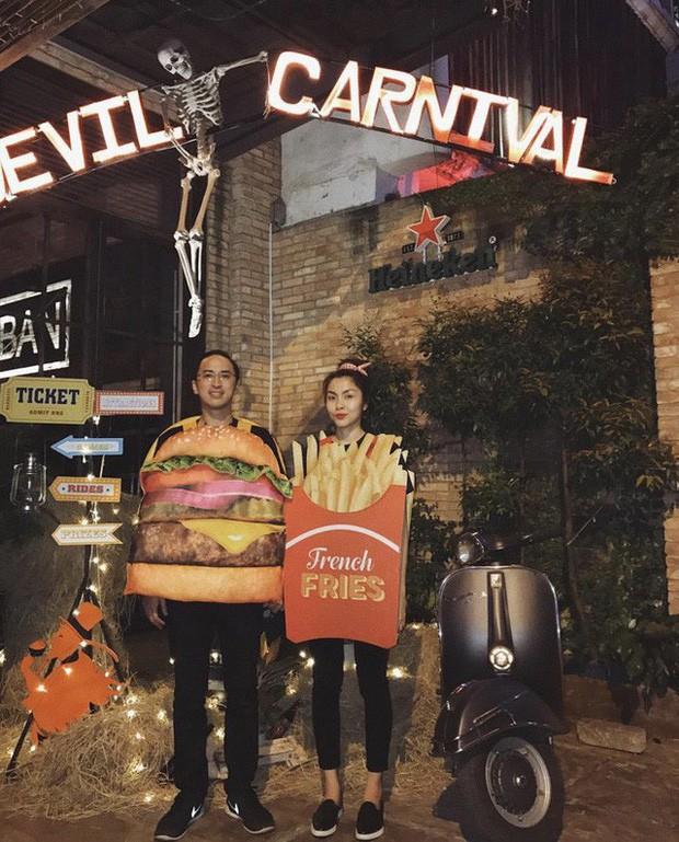 Vợ chồng Hà Tăng lại gây sốt với màn hóa trang Halloween cực dễ thương: Cặp đôi máu lửa nhất mỗi dịp lễ hội là đây! - Ảnh 4.