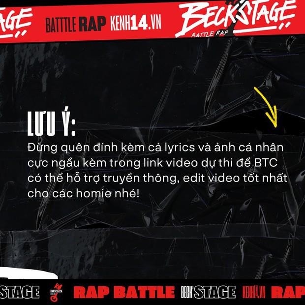 BeckStage Battle Rap: cổng gửi bài dự thi và bình chọn đã mở, cơ hội để bạn show hết tài năng đến rồi đây! - Ảnh 8.