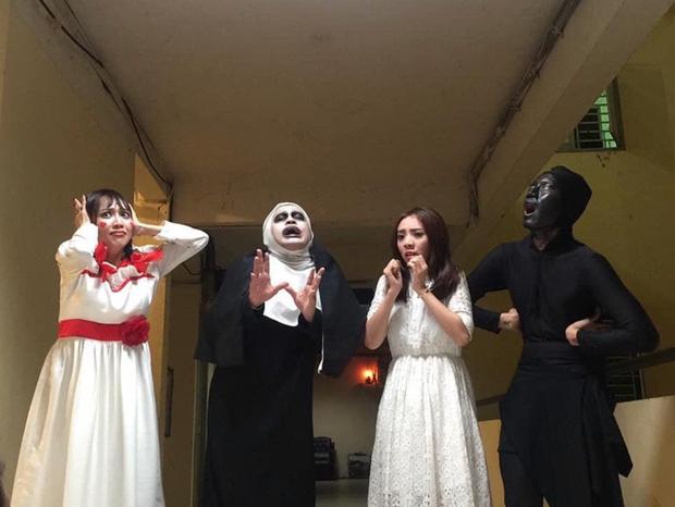 """Sao Vbiz nhập cuộc Halloween căng đét: Hội bạn thân Chi Pu hoá """"Powerpuff girls"""" không ai đọ lại, Thu Trang và Diệu Nhi đủ gây giật mình - Ảnh 5."""
