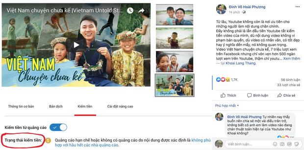 Khoai Lang Thang bị Youtube tắt trạng thái kiếm tiền, chia sẻ buồn rầu vì làm nội dung tử tế nhưng lại bị hạn chế người xem - Ảnh 1.