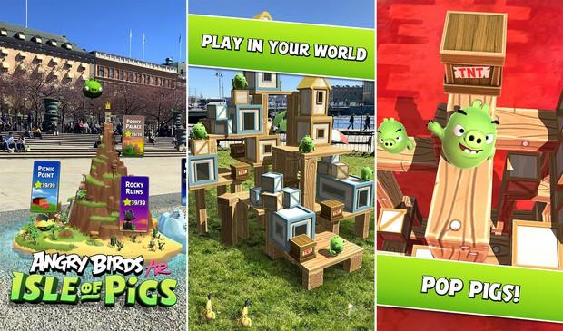 Angry Birds AR: Đảo Lợn - Trò chơi kinh điển đã có mặt trên Android - Ảnh 3.