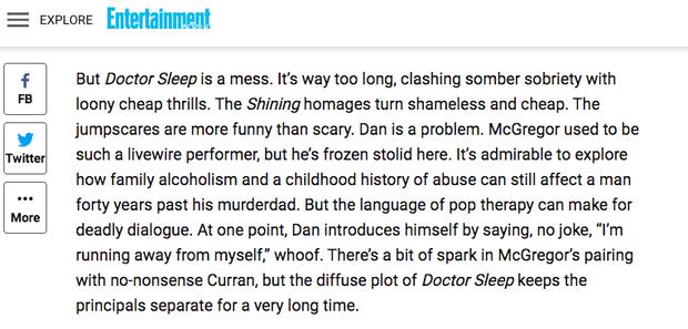 Phản ứng khán giả xem sớm Doctor Sleep: Giới phê bình chê banh xác, người dưới đất khen hết lời? - Ảnh 11.