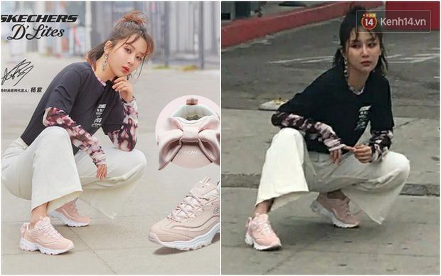 Cùng 1 dáng pose quảng cáo sneaker: Dương Mịch, Angela Baby... khoe đẳng cấp; quay sang Dương Tử bỗng tụt mood - Ảnh 9.