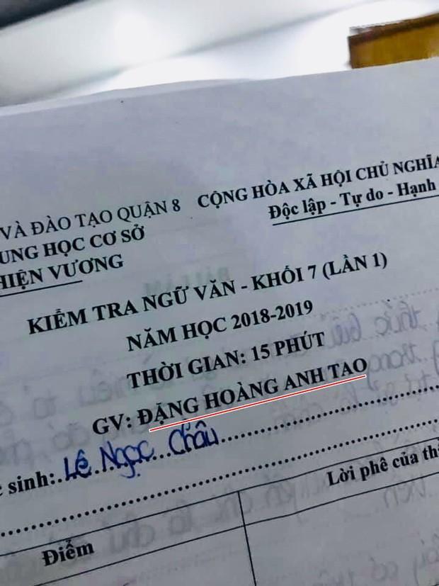 Thầy giáo dạy văn bất ngờ gây bão mạng xã hội với cái tên độc lạ Đặng Hoàng Anh Tao - Ảnh 1.