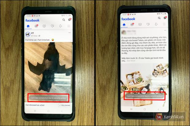 Facebook bắt đầu cấm người dùng chụp ảnh màn hình khi dùng app, thực hư ra sao? - Ảnh 1.