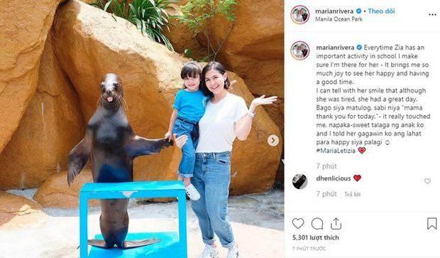 Mỹ nhân đẹp nhất Philippines Marian Rivera khoe lần đầu con gái tới thủy cung, biểu cảm đáng yêu của Zia gây sốt mạng xã hội - Ảnh 1.