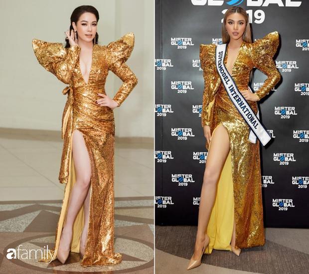 Kém 12cm chiều cao, Nhật Kim Anh cũng chẳng kém đẹp so với Siêu mẫu quốc tế Khả Trang khi cùng diện đầm lộng lẫy - Ảnh 6.
