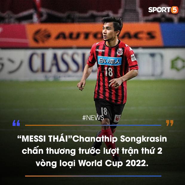 Giới truyền thông tá hỏa vì Messi Thái chấn thương trước thềm vòng loại World Cup 2022 - Ảnh 1.