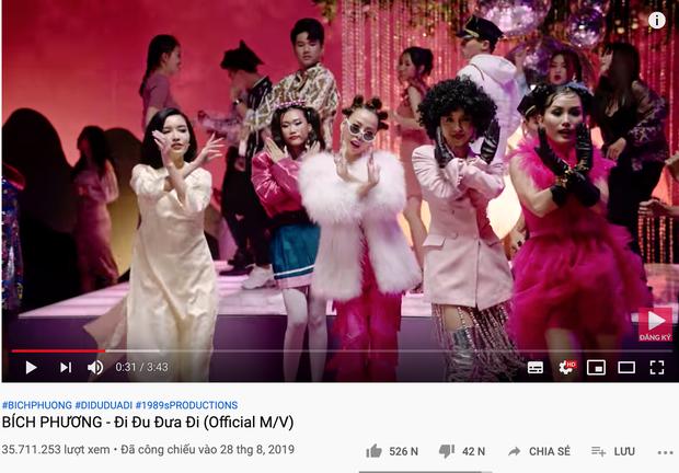 Sức mạnh sao đỏ của Hậu Hoàng đạt 36 triệu view Youtube sau hơn 1 tuần ra mắt, vượt mặt Bích Phương lẫn Đức Phúc! - Ảnh 3.