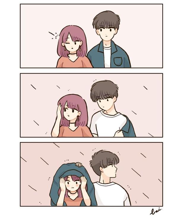 Bộ tranh: Khi yêu vào con người ta có thể trở nên dễ thương đến thế này, bảo sao ai cũng mong có bồ! - Ảnh 1.