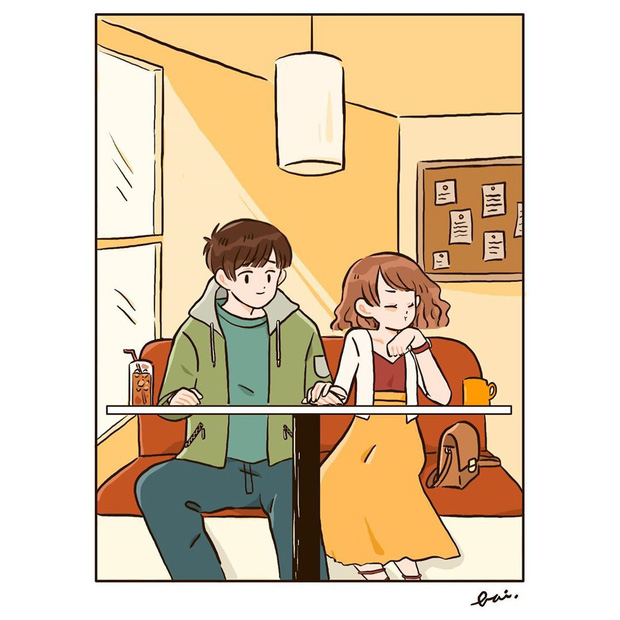 Bộ tranh: Khi yêu vào con người ta có thể trở nên dễ thương đến thế này, bảo sao ai cũng mong có bồ! - Ảnh 5.