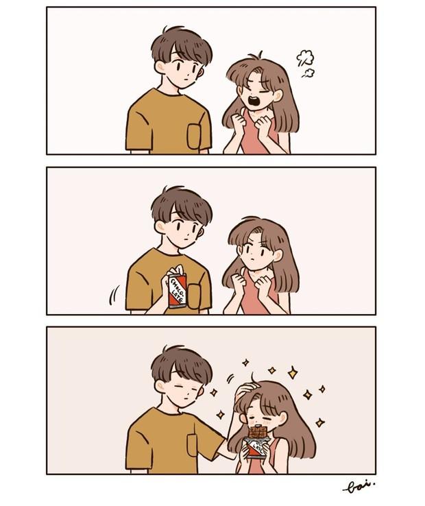 Bộ tranh: Khi yêu vào con người ta có thể trở nên dễ thương đến thế này, bảo sao ai cũng mong có bồ! - Ảnh 11.