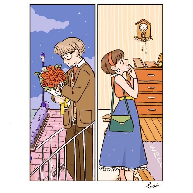 Bộ tranh: Khi yêu vào con người ta có thể trở nên dễ thương đến thế này, bảo sao ai cũng mong có bồ! - Ảnh 13.