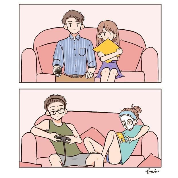 Bộ tranh: Khi yêu vào con người ta có thể trở nên dễ thương đến thế này, bảo sao ai cũng mong có bồ! - Ảnh 17.