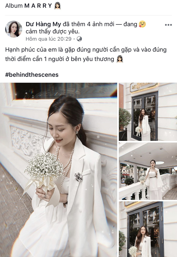 Dư Hàng My - em họ Hương Tràm khoe hậu trường ảnh cưới, tiết lộ thời điểm kết hôn với bạn trai yêu 3 năm - Ảnh 1.