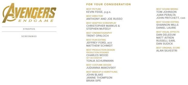 Khán giả ENDGAME sôi máu vì Người Sắt Robert Downey Jr. vắng mặt trong danh sách ứng cử Oscar - Ảnh 1.