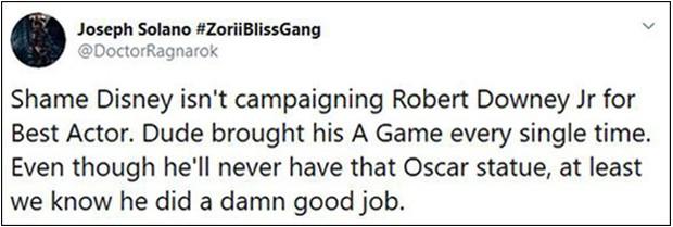 Khán giả ENDGAME sôi máu vì Người Sắt Robert Downey Jr. vắng mặt trong danh sách ứng cử Oscar - Ảnh 4.