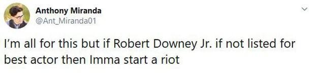 Khán giả ENDGAME sôi máu vì Người Sắt Robert Downey Jr. vắng mặt trong danh sách ứng cử Oscar - Ảnh 6.