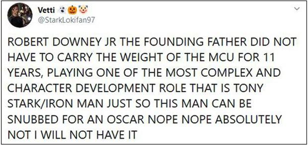 Khán giả ENDGAME sôi máu vì Người Sắt Robert Downey Jr. vắng mặt trong danh sách ứng cử Oscar - Ảnh 7.