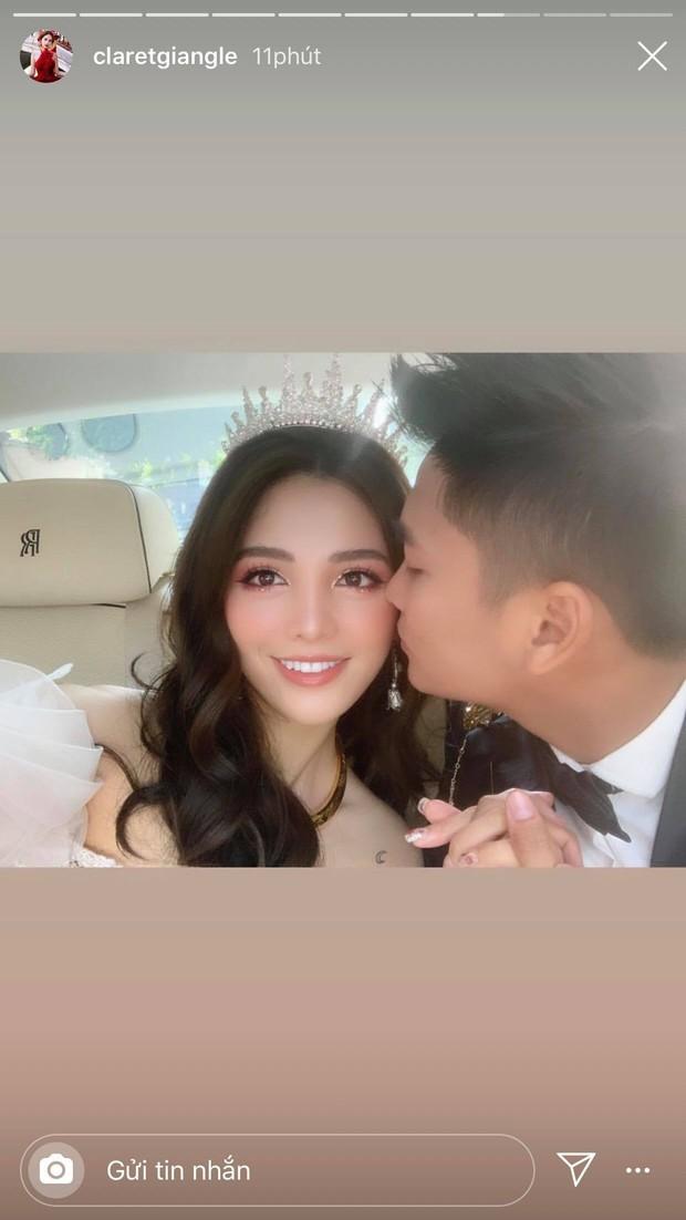Rich kid Giang Lê xinh xuất sắc trong ngày cưới, chỗ đỗ dàn Rolls Royces tiết lộ vị trí đắc địa của nhà gái ở Hà Nội - Ảnh 5.