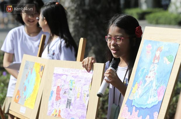 Học sinh Marie Curie tổ chức ngày hội triễn lãm tranh kêu gọi cộng đồng bảo vệ môi trường - Ảnh 4.