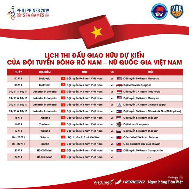 Trước thềm SEA Games 30, tuyển bóng rổ Việt Nam dự kiến giao hữu với các đối thủ cực chất lượng - Ảnh 1.