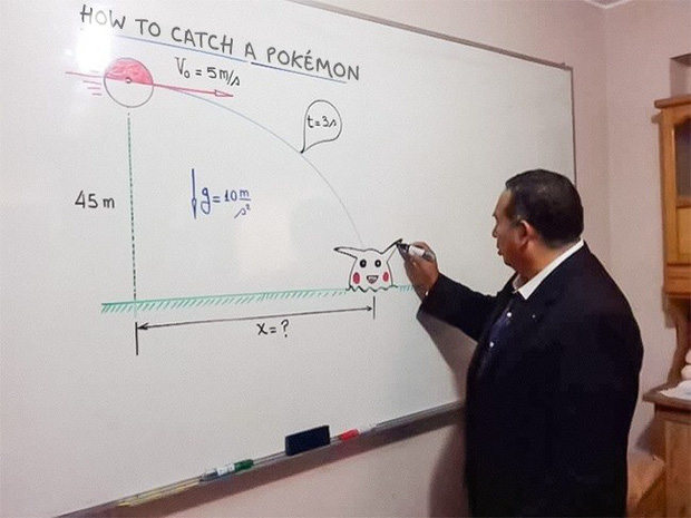 Bắt học sinh không nhìn lên bảng nửa tiếng, thầy giáo hì hục tô tô vẽ vẽ ai ngờ cho ra đề bài quá dễ thương - Ảnh 1.
