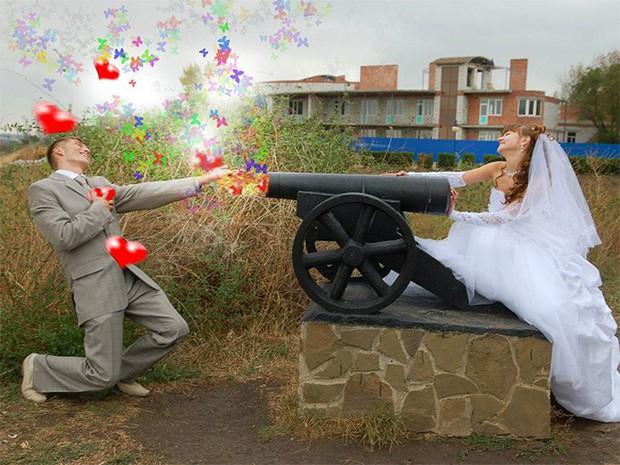 Hồn vía lên mây khi các phó nháy người Nga trổ tài photoshop ảnh cưới, báo hại gia chủ khóc dở mếu dở - Ảnh 2.