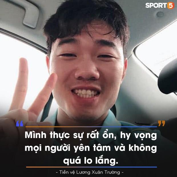 Tiền vệ Lương Xuân Trường: Tôi rất ổn, mong mọi người yên tâm và không quá lo lắng - Ảnh 2.