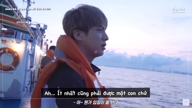"""Đẳng cấp anh cả Jin (BTS): Ăn mì gói và đi câu cá """"sương sương"""", lọt luôn top tìm kiếm Tiwtter toàn cầu - Ảnh 4."""