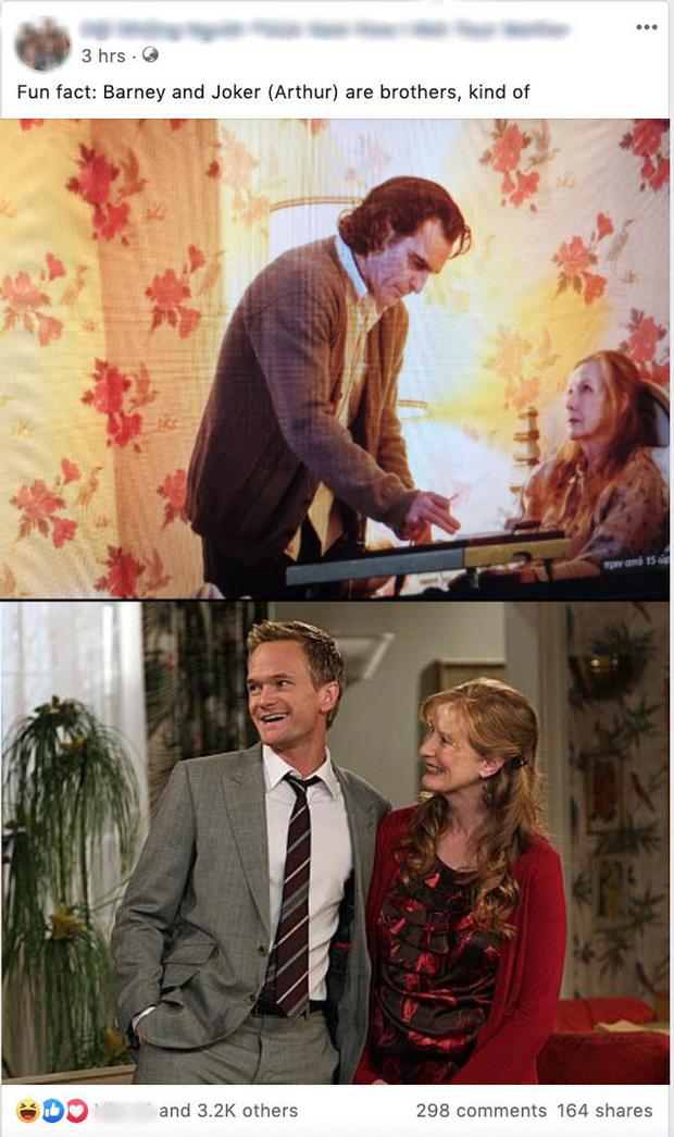 Xuất hiện giả thuyết gây sốc: Joker và Barney (Khi Bố Gặp Mẹ) là anh em cùng mẹ khác cha? - Ảnh 2.