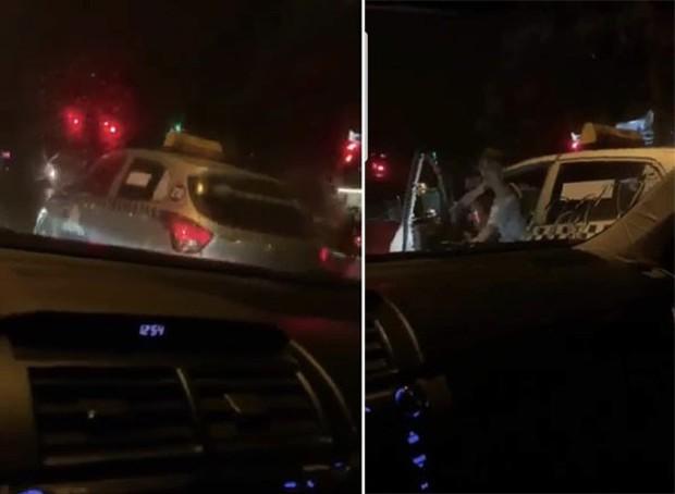 Tài xế taxi Thanh Nga hung hăng đòi đốt xe người dừng đèn đỏ - Ảnh 1.