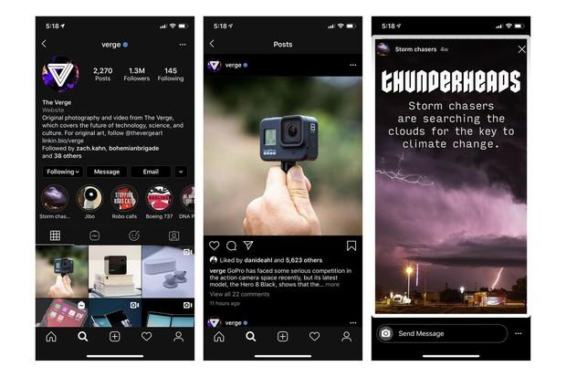 Instagram bản Dark Mode chính thức đổ bộ: Vừa lạ vừa quen, chuẩn bài cú đêm lướt ảnh - Ảnh 1.