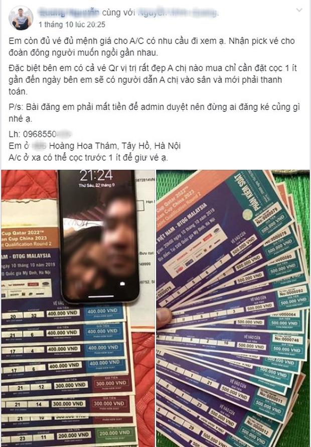 Phe vé ảm đạm, chợ vé online vẫn nhộn nhịp trước trận Việt Nam gặp Malaysia - Ảnh 5.