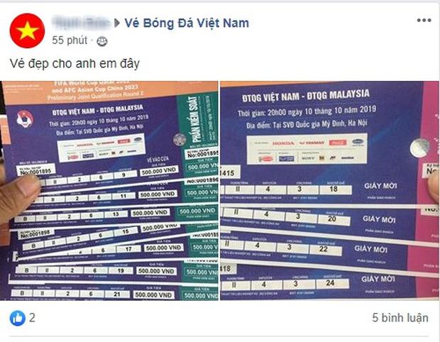 Phe vé ảm đạm, chợ vé online vẫn nhộn nhịp trước trận Việt Nam gặp Malaysia - Ảnh 6.