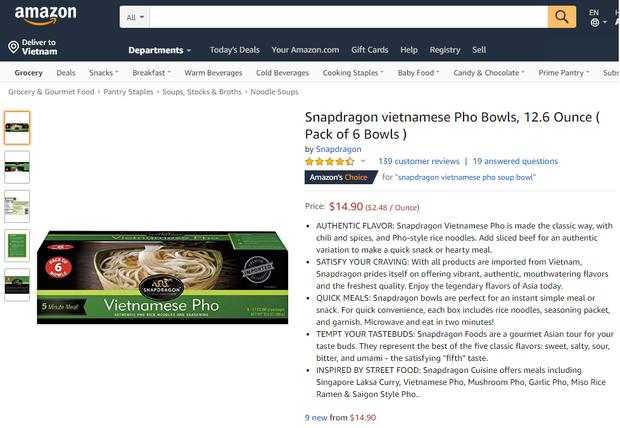 Ngó nghía những loại mì - miến - phở Việt đóng gói bán trên Amazon: đắt gấp 10-15 lần ở Việt Nam, còn không có mà mua - Ảnh 15.