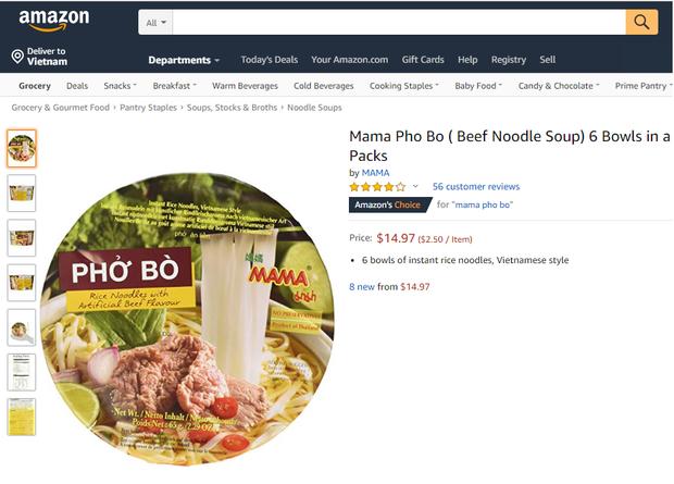 Ngó nghía những loại mì - miến - phở Việt đóng gói bán trên Amazon: đắt gấp 10-15 lần ở Việt Nam, còn không có mà mua - Ảnh 17.