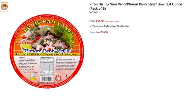 Ngó nghía những loại mì - miến - phở Việt đóng gói bán trên Amazon: đắt gấp 10-15 lần ở Việt Nam, còn không có mà mua - Ảnh 1.